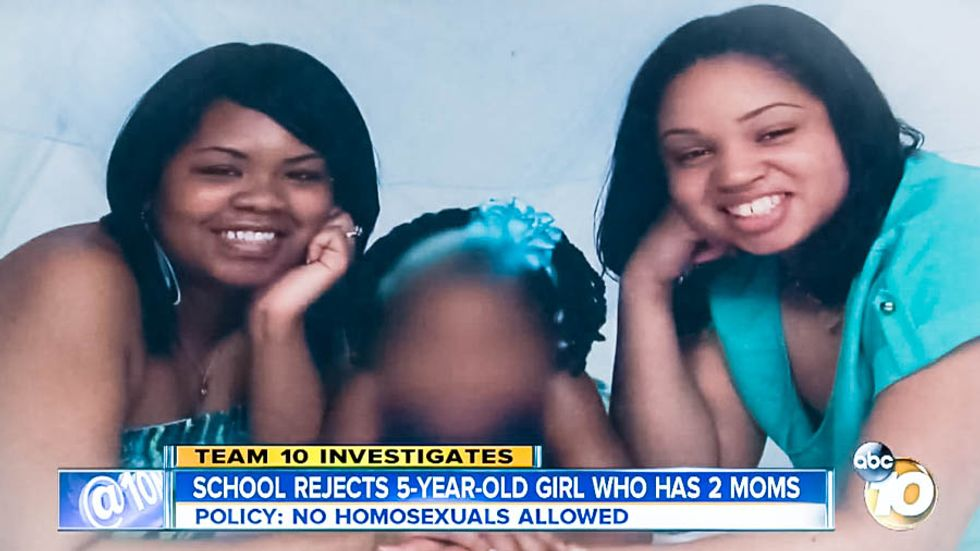 Christian school cites Leviticus 'non-discrimination policy' to ban girl for having two moms