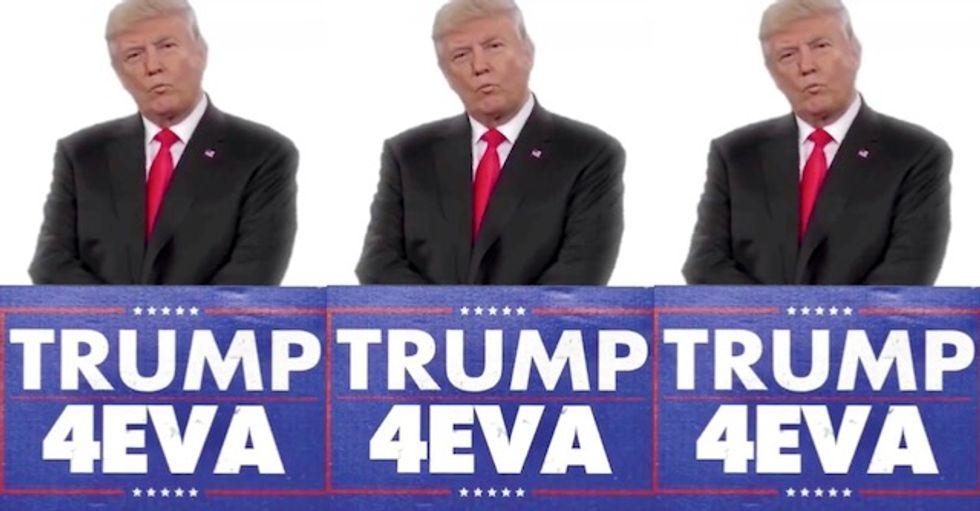 Trump tweets disturbing doctored video of Time Magazine showing him running '4EVA'