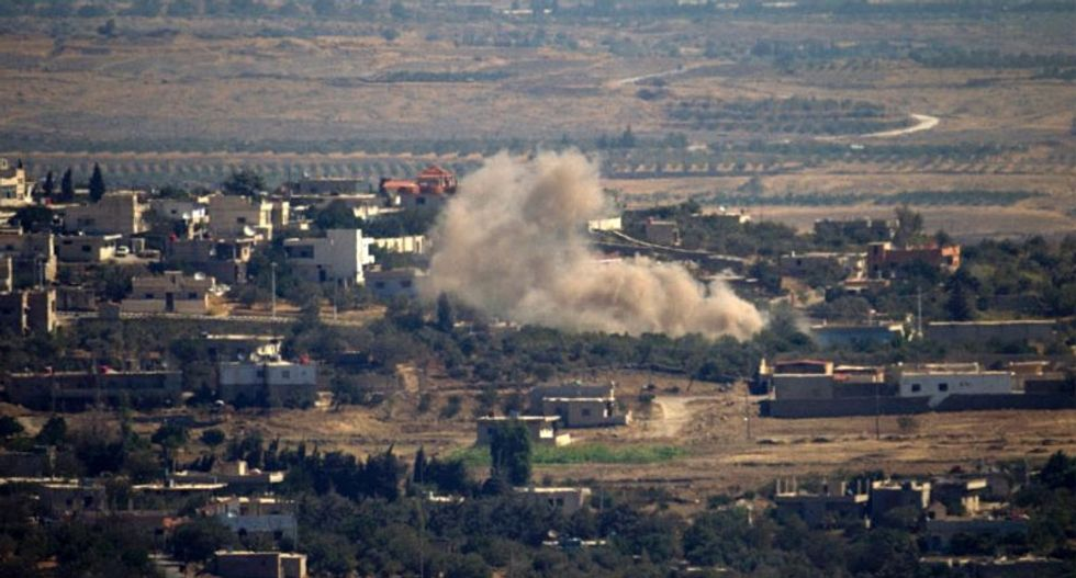 Israel hits back after Golan rockets fired from Syria