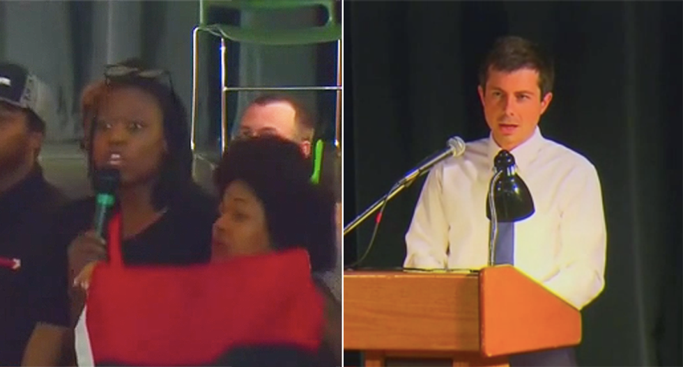 'Get racists off the streets': South Bend voters shout down Buttigieg over police shooting at fiery town hall
