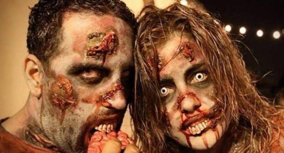 Sam Brownback says tax-starved Kansas has enough money to prepare for a zombie apocalypse