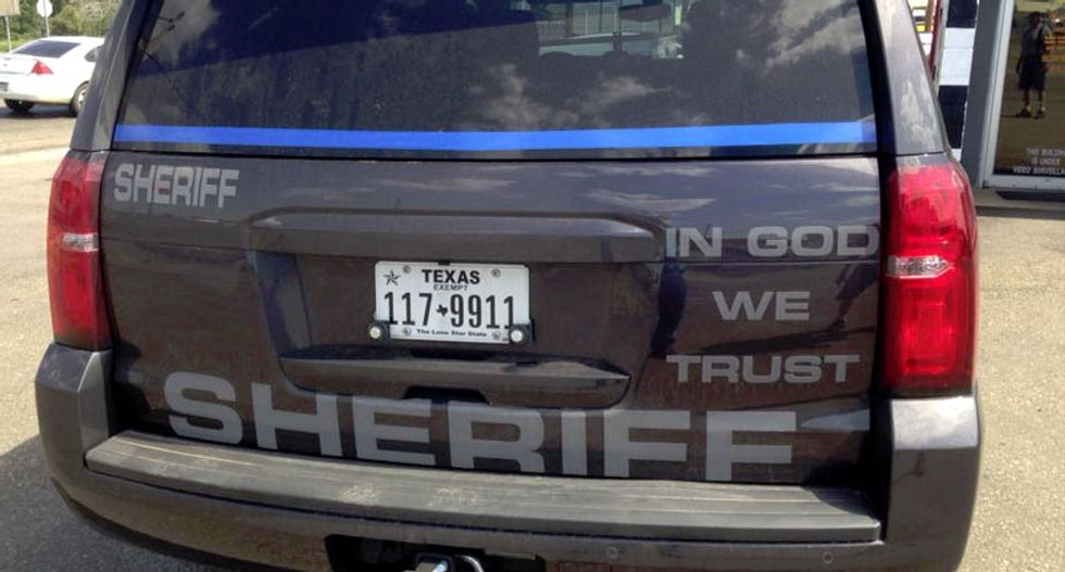 Texas attorney general gives cops the OK to put 'In God We Trust' on police cars