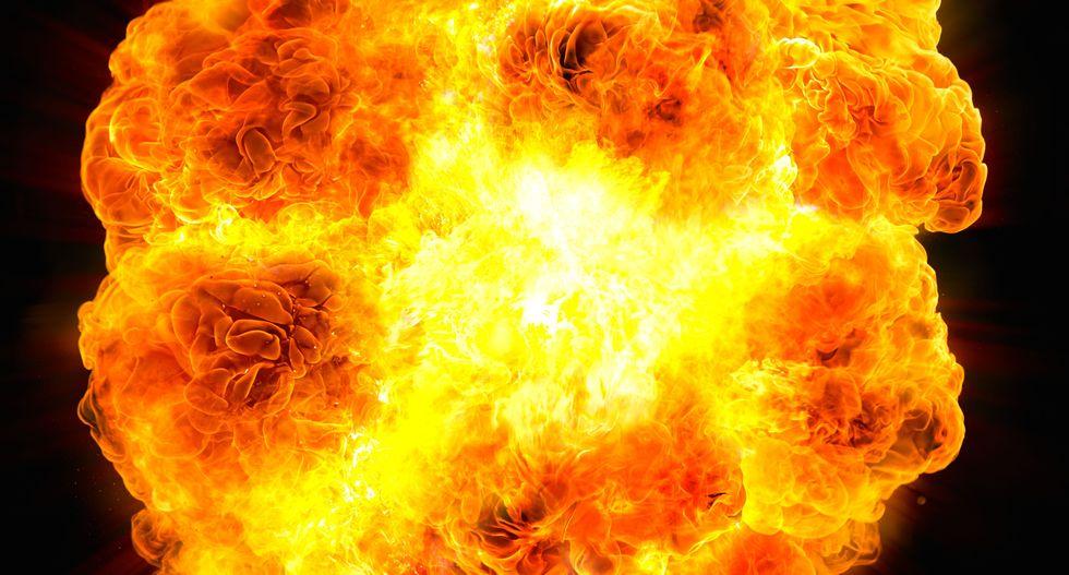 Colorado police seek man filmed igniting fireball at bank