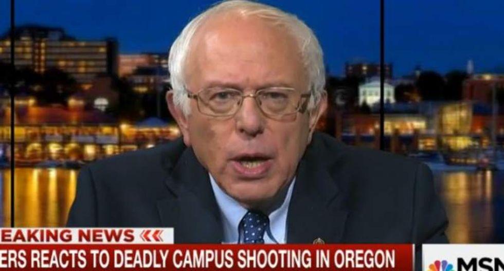 'We're tired of sending condolences': Bernie Sanders backs Obama's push for stronger gun laws