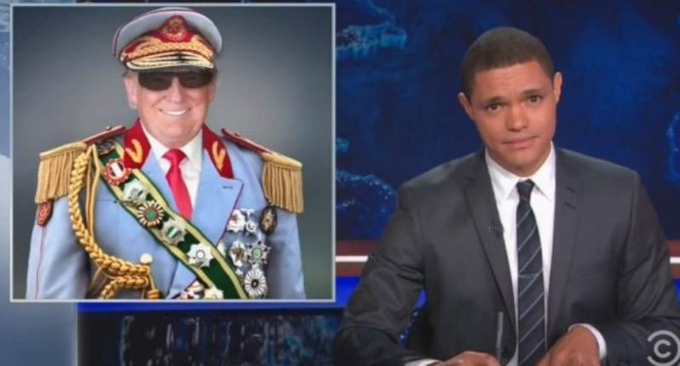 Trevor Noah proves Donald Trump is 'presidential' by comparing him to Gadhafi and Idi Amin