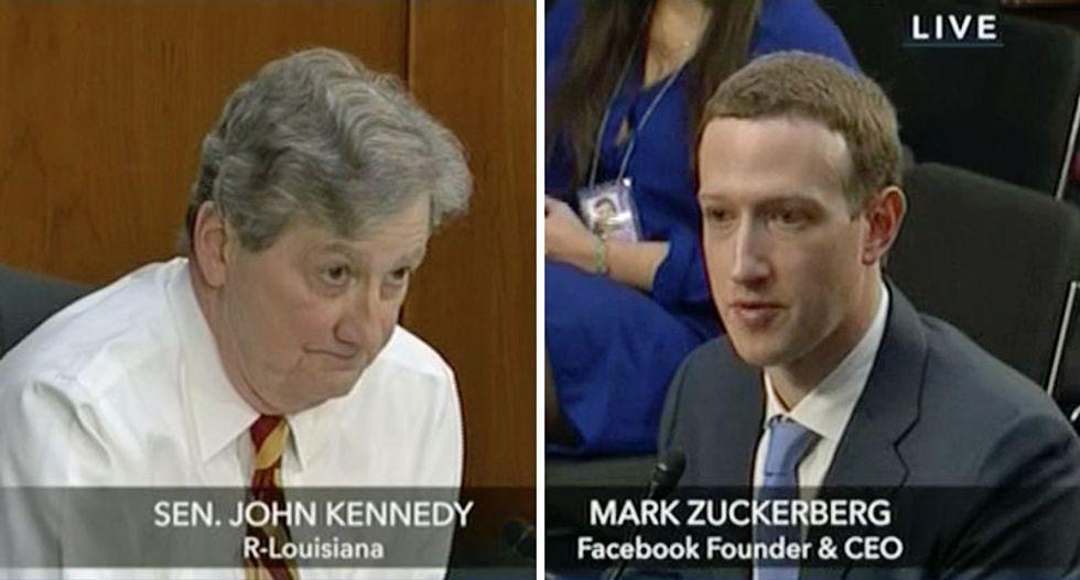 'Your user agreement sucks': GOP senator hilariously lectures Mark Zuckerberg -- and assigns him homework