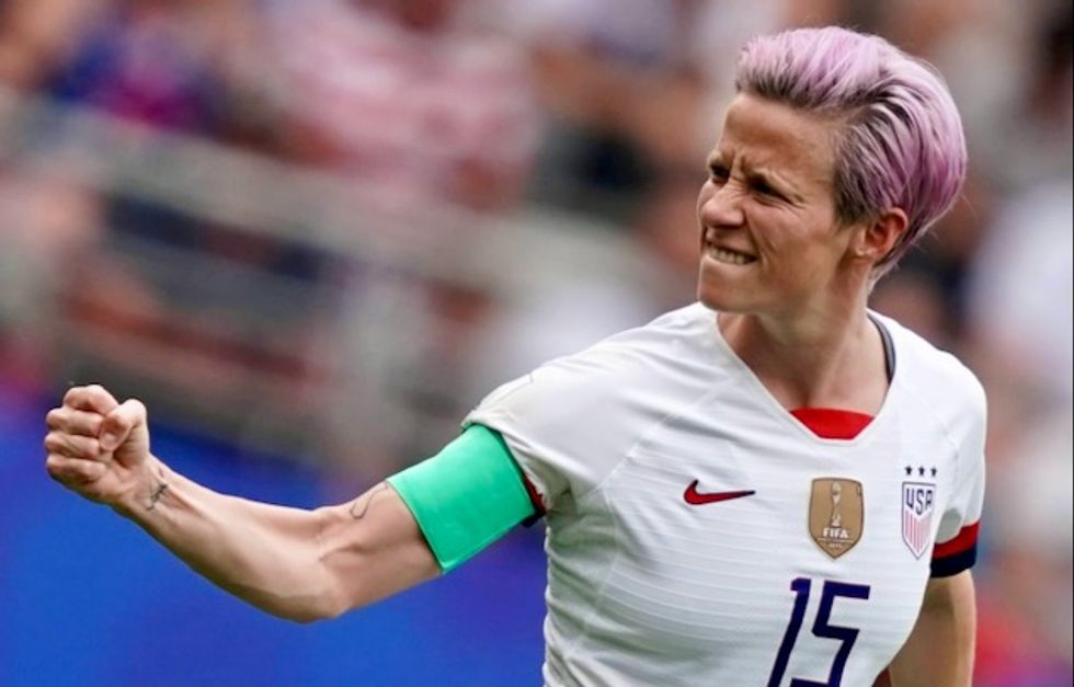 USA's fearless Megan Rapinoe takes on France, and her own president