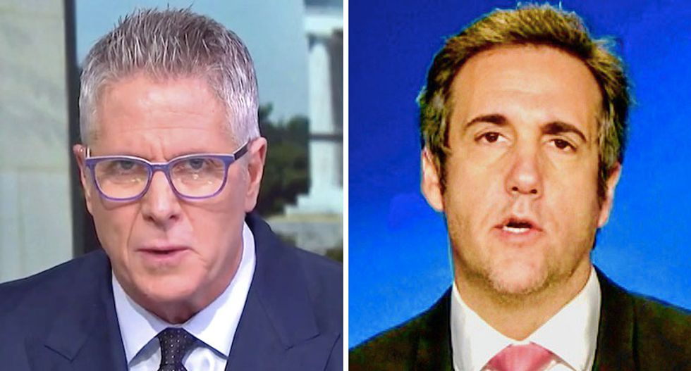 Michael Cohen caught dining with MSNBC's Donny Deutsch -- who just urged him to turn on Trump