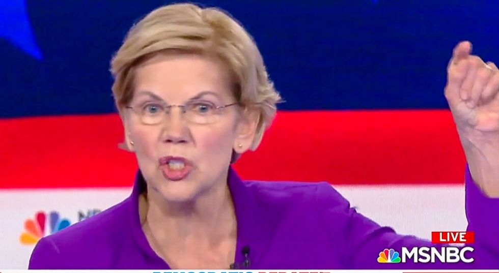 Dem debate audience goes wild over Elizabeth Warren's plan to 'deal with' Mitch McConnell