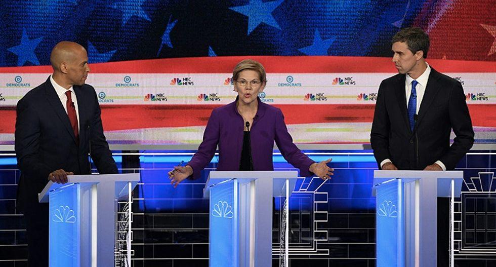 Senator Elizabeth Warren leads Democrats in spirited first 2020 debate