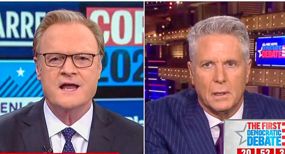Lawrence O'Donnell throttles Donny Deutsch for saying Elizabeth Warren can't beat Trump: 'This is pure guesswork'