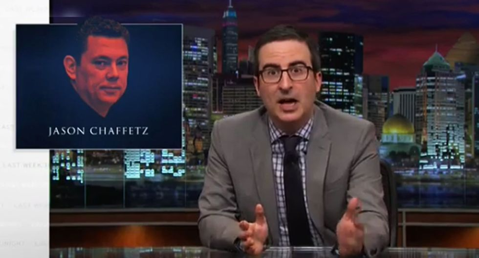 John Oliver mocks Secret Service for trying to embarrass GOPer who's really good at embarrassing himself