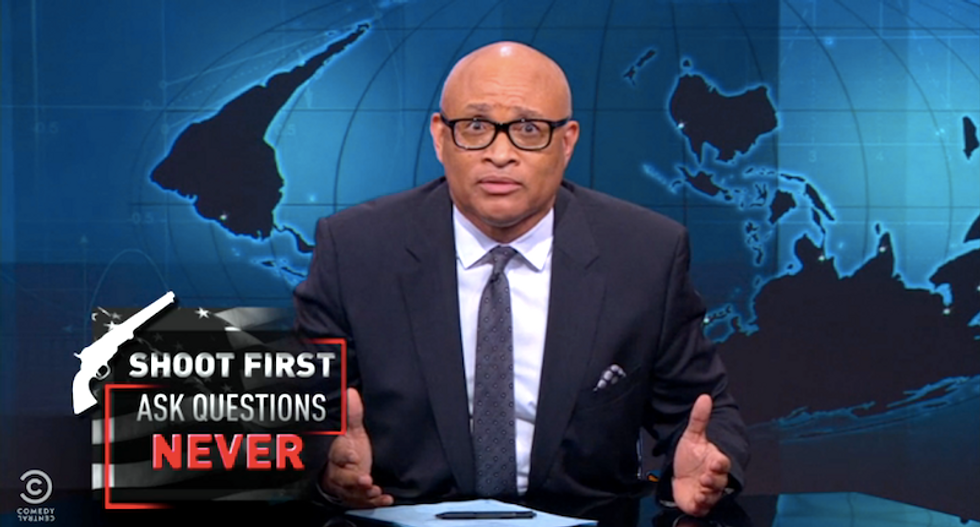 Larry Wilmore takes apart all the tricks conservatives use to shut down an 'honest conversation about guns'