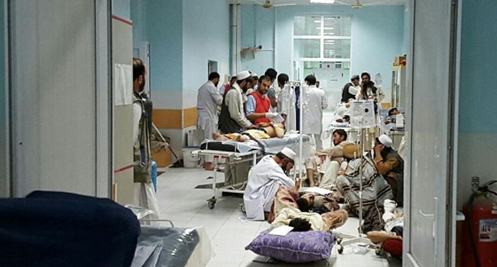 Afghan forces called for hospital air strike, US general says