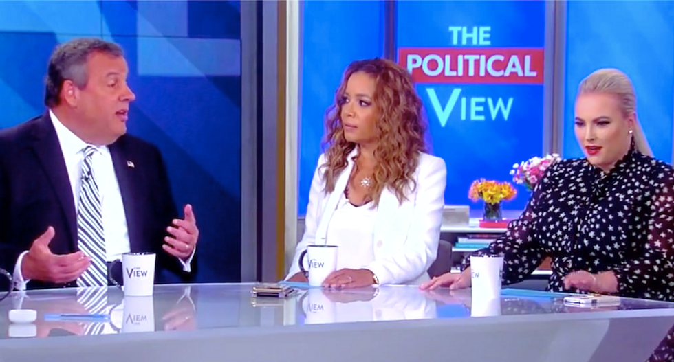 Meghan McCain begs for mercy after The View gangs up on Chris Christie for defending Trump at all costs