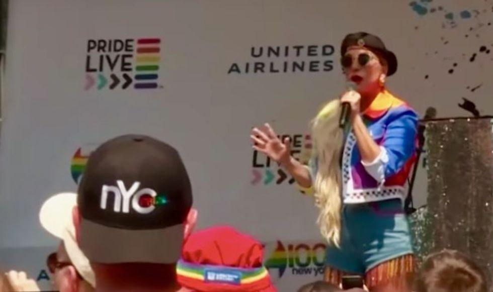 Lady Gaga crashes Stonewall commemoration bash in New York