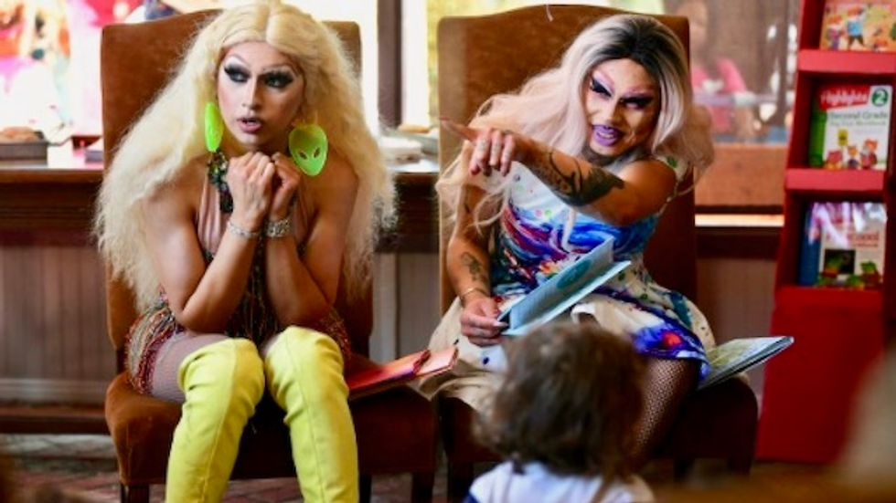 Drag Queen Story Hour: Once upon a time in a bookstore...