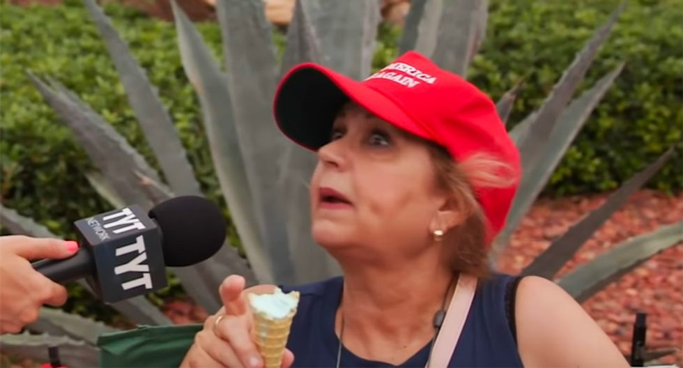 WATCH: Trump fan has a 'fake news' meltdown after being told president boasted he could shoot someone