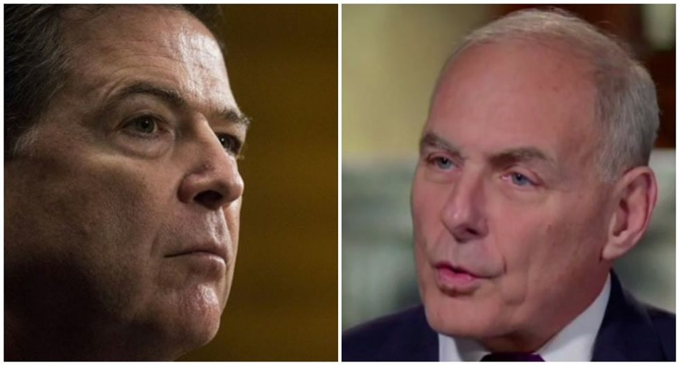 John Kelly called James Comey to trash 'dishonorable' Trump for firing him: book