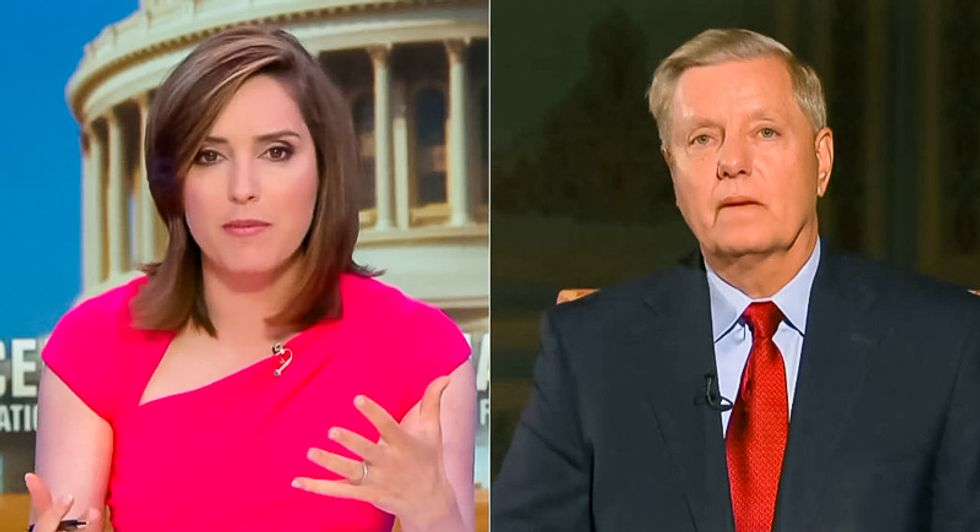 CBS host gloriously blows up Lindsey Graham for defending Trump's 'joke' about election 'meddling' to Putin
