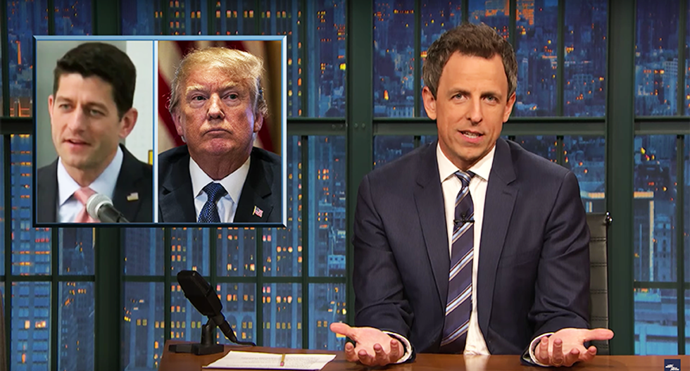 Seth Meyers nails Paul Ryan retirement as 'clogging a toilet and leaving': 'You gave us Trump -- you should have to live with him'
