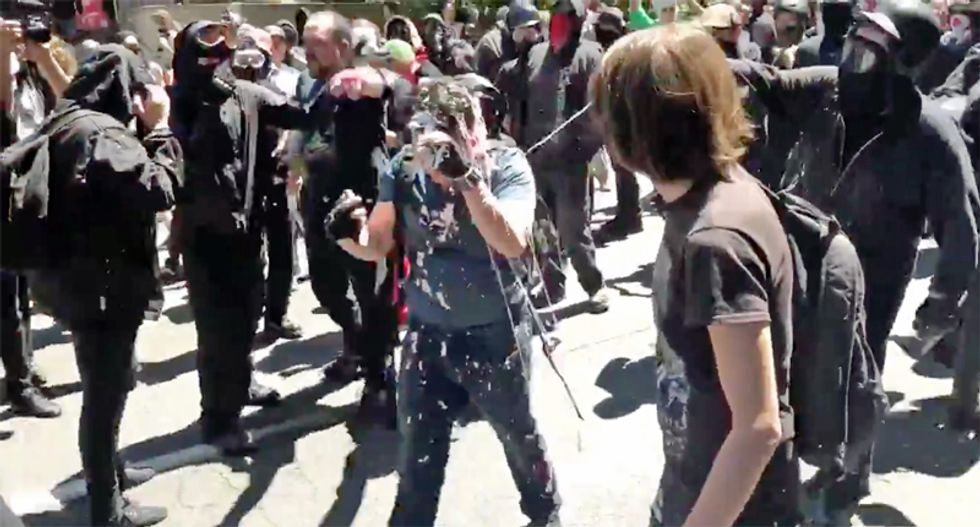 Chaos breaks out in Portland streets as Proud Boys battle with counter-protestors