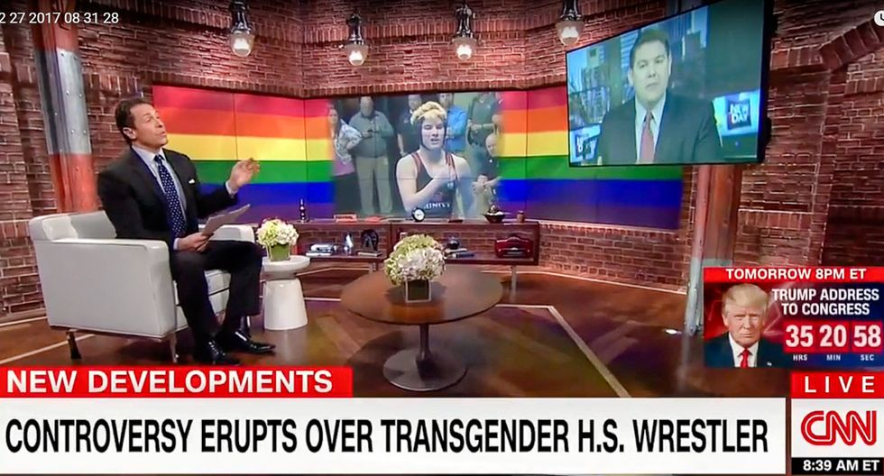 'Intolerance in practice': Chris Cuomo shreds pundit for fear of transgender 'genitals in your face'