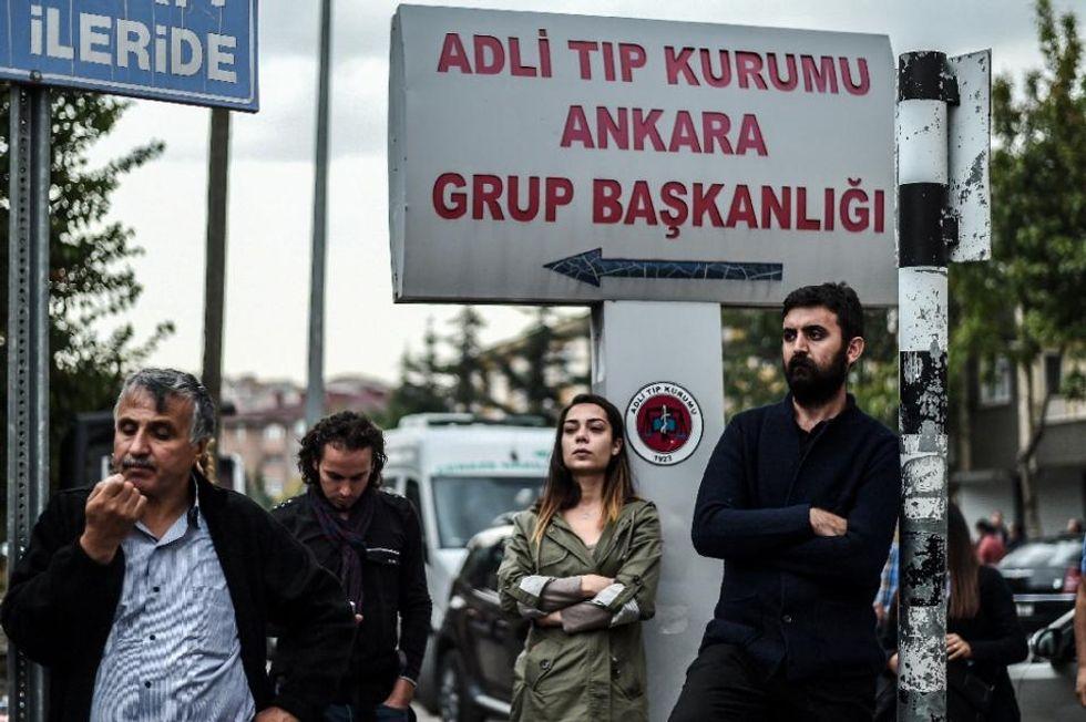At Ankara morgue, anger mixes with horror over attack on peace parade
