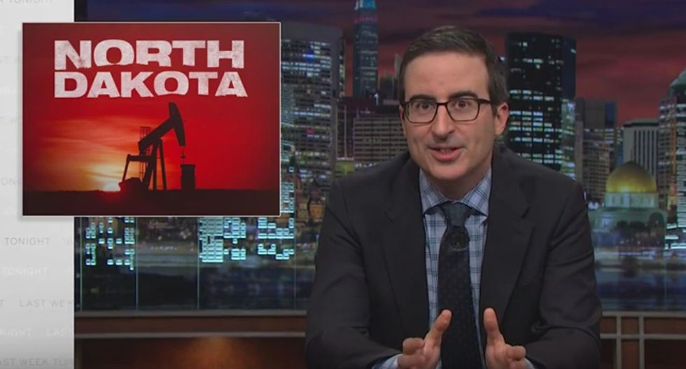 'It's 'f*cking horrifying': John Oliver rips North Dakota officials for letting the oil industry destroy their state