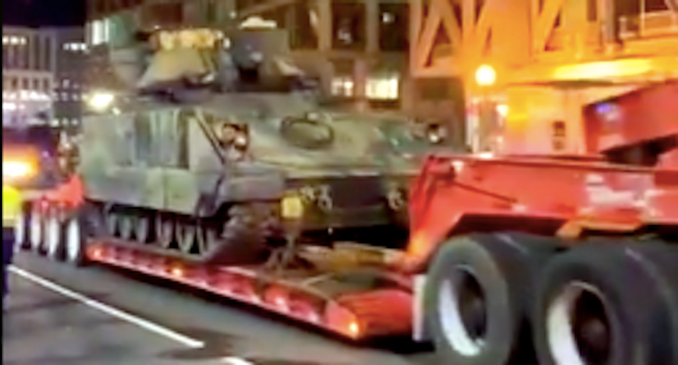 'Putin's America': The internet reacts to 'disturbing' images of tanks rolling into DC for Trump's parade