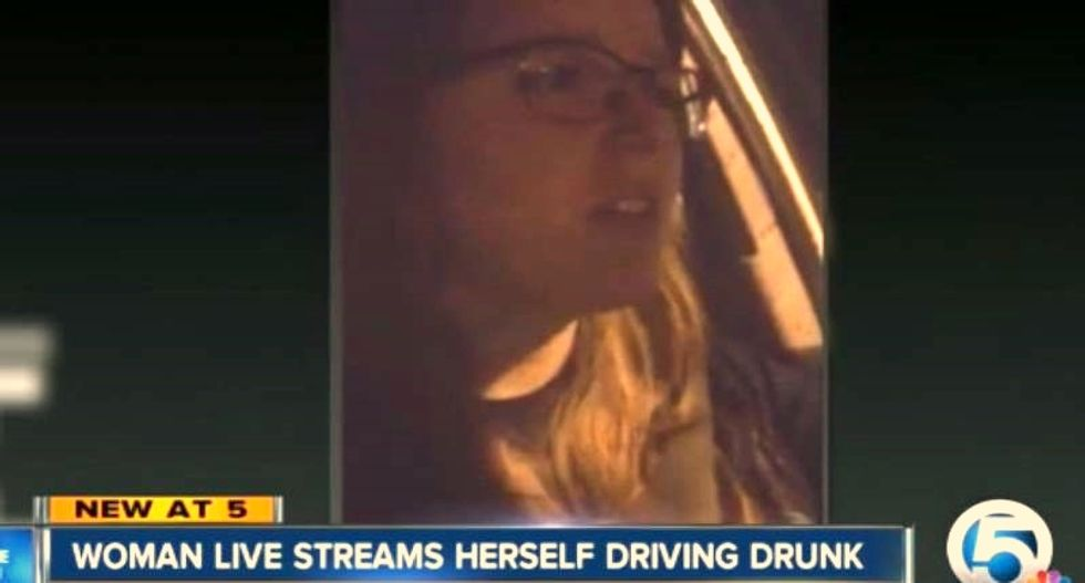 Florida woman busted after broadcasting herself online driving while 'f*cking drunk'