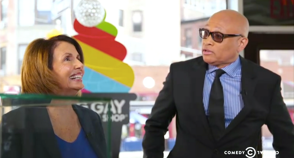 Nancy Pelosi takes a slap at George, er, Jeb Bush while having ice cream with Larry Wilmore