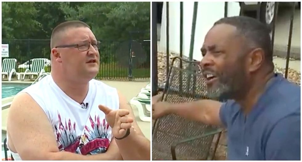 WATCH: Black dad confronts white man who hurled insults and accusations at his teenage daughter at pool