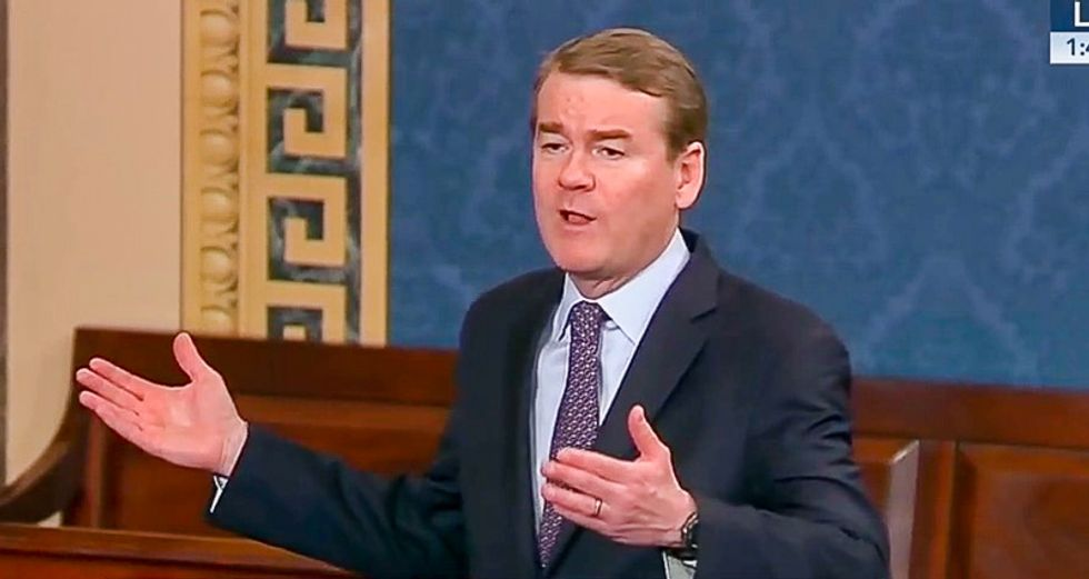 WATCH: Sen. Michael Bennet blows up on Mitch McConnell for 'destroying the judiciary'