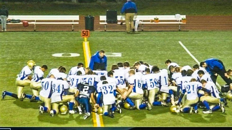 High school football coach says 'agreement with God' authorizes him to lead team prayers