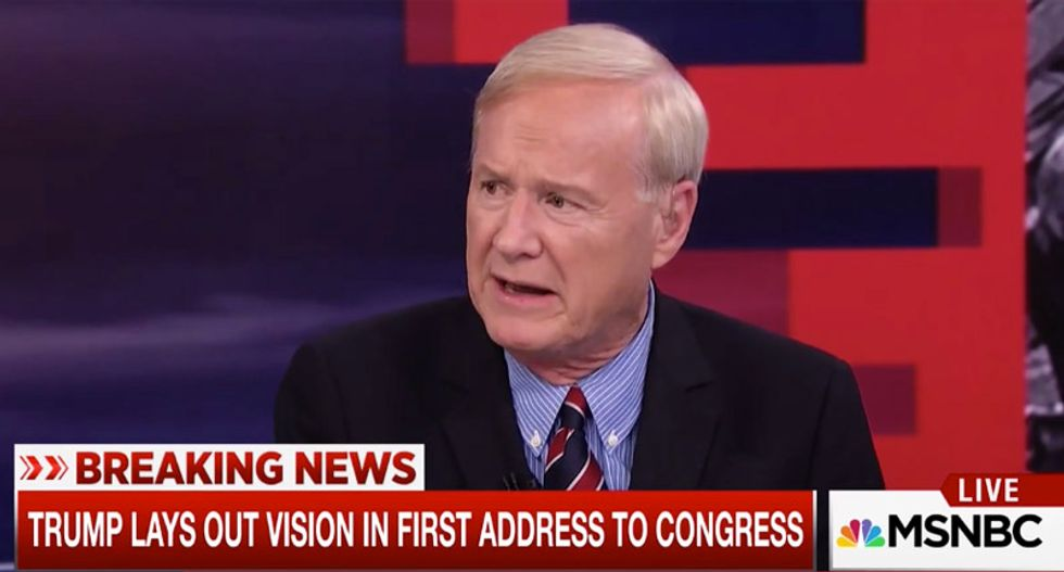 Chris Matthews shreds Trump for 'dicking around' in speech and ducking responsibility for Navy SEAL's death