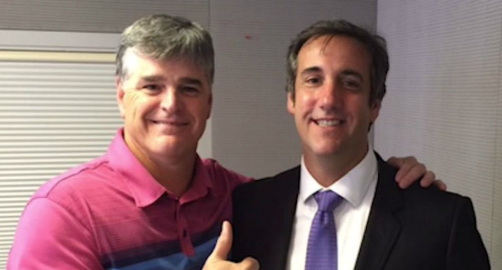 Fox's Hannity runs interference for Trump by claiming Cohen confessed to him 'at least a dozen times' he was only one behind payoffs