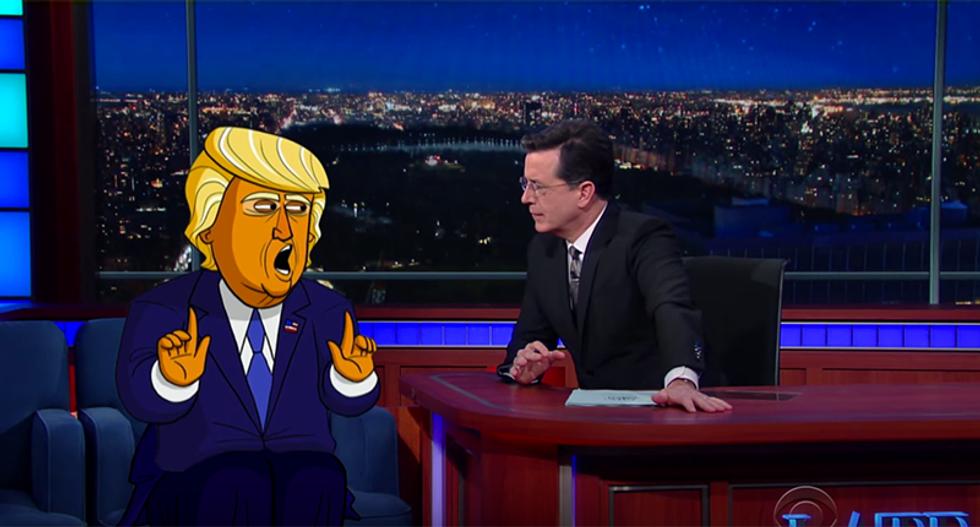 Cartoon Donald Trump slams Anderson Cooper as a 'dumb-dumb,' 'stupid head' and 'poopy pants'