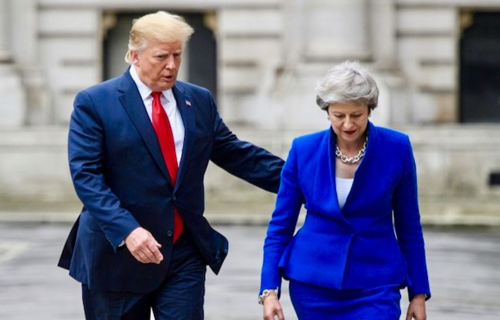 Trump hits out at Theresa May after leak of damning cables