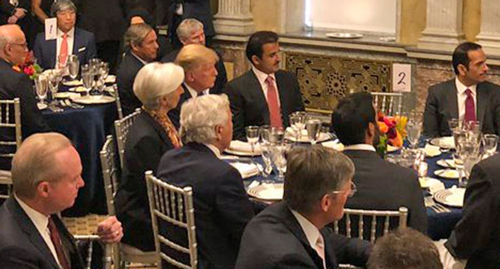 Photo shows Trump dining on Monday with billionaire charged with prostitution — and it's not Jeffrey Epstein!