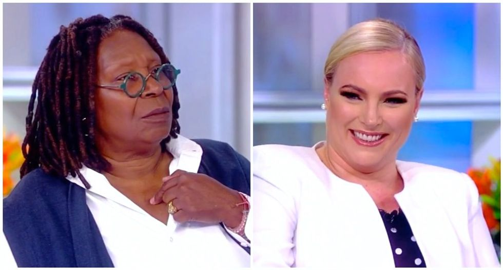 The View's Whoopi Goldberg shoots icy glare at Meghan McCain for interrupting her to gloat