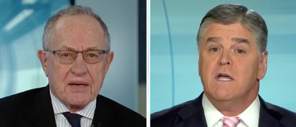 WATCH: Alan Dershowitz scolds fellow Trump-backer Sean Hannity for not disclosing his relationship with Michael Cohen