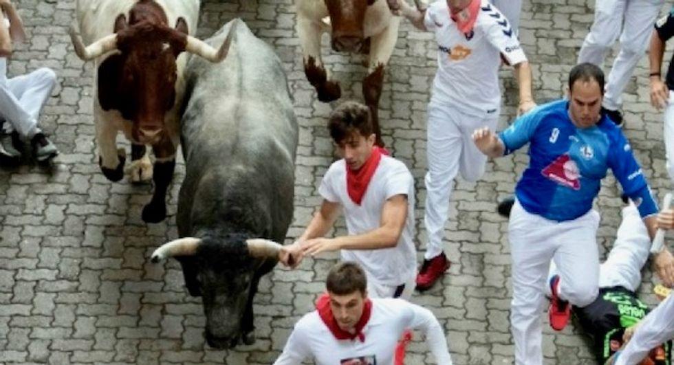 Briton, American injured in Spain's Pamplona bull run