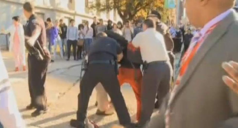 Rhode Island cops pepper-spray high-schoolers protesting siblings' violent arrest