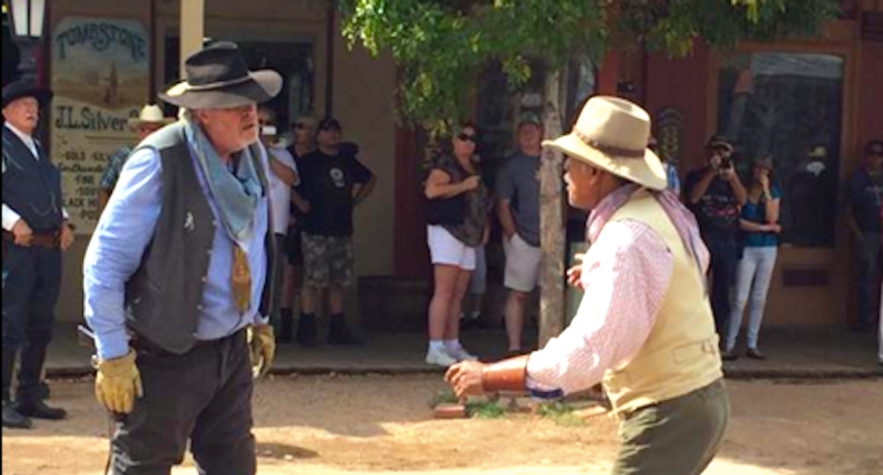 Gunfail at the OK Corral: 'Vigilante' shoots bystander and fellow actor during shootout stunt for tourists