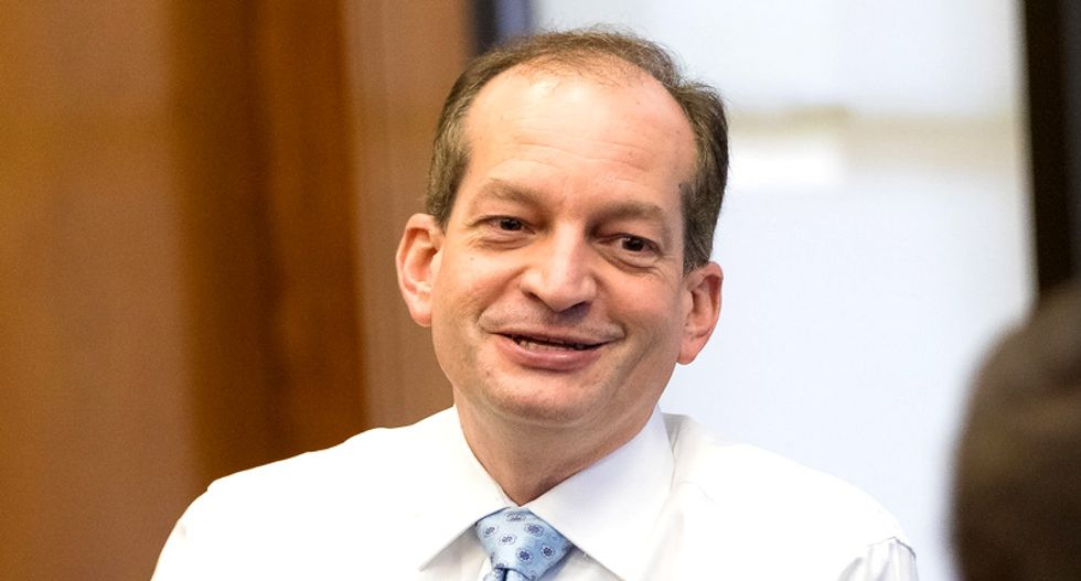Trump labor secretary who gave Epstein sweetheart deal now wants to slash funding to combat sex-trafficking