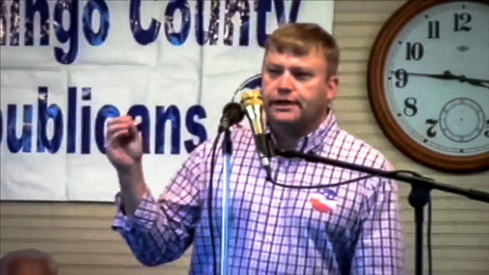 Busted: Watch Mississippi lawmaker openly race-baiting at GOP rally to oppose black school funding
