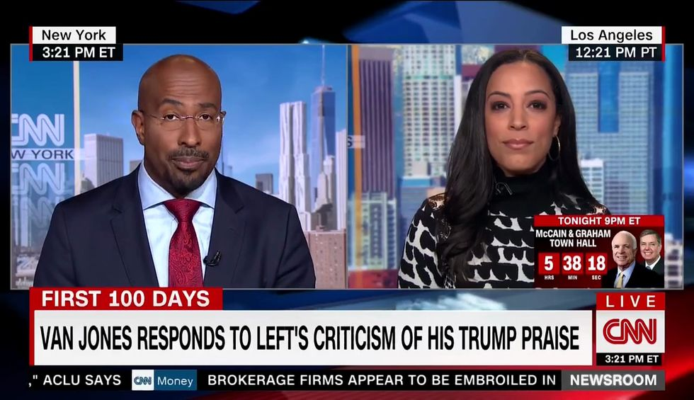Angela Rye confronts Van Jones over Trump's speech: 'I definitely don't think that this is presidential'