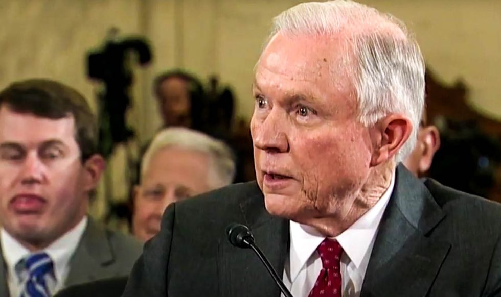 'Hard to see how he can continue to serve': Dick Durbin calls on Sessions to step down after ducking questions