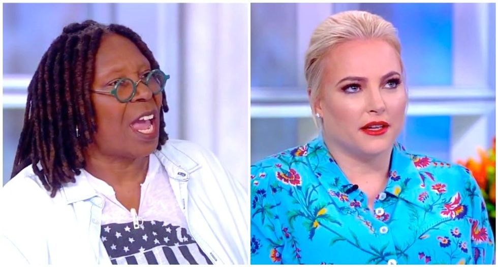 Meghan McCain whines that Whoopi Goldberg is 'politicizing' Epstein scandal -- and then calls him a Democratic donor
